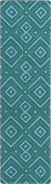Brentwood Teal Polyester Runner - 27 x 96 BNT7704-238