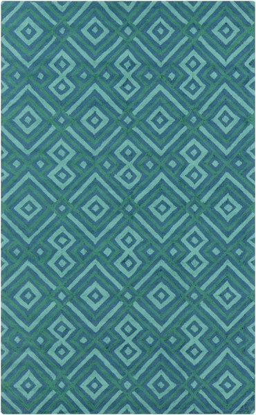 Brentwood Teal Polyester Area Rug - 60 x 96 BNT7704-58