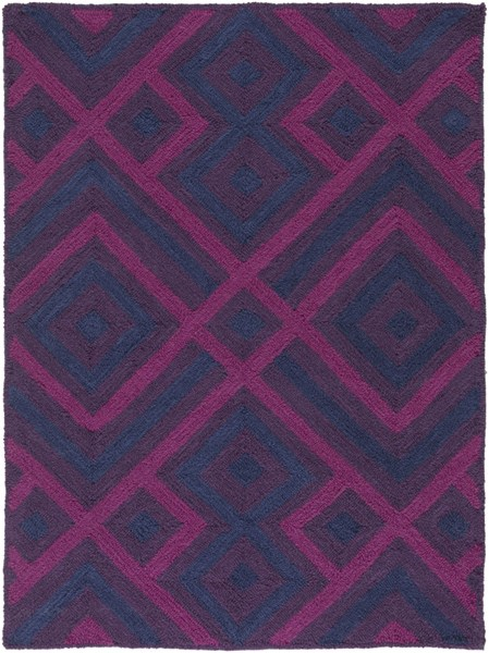 Brentwood Magenta Eggplant Navy Polyester Area Rug - 24 x 33 BNT7705-229