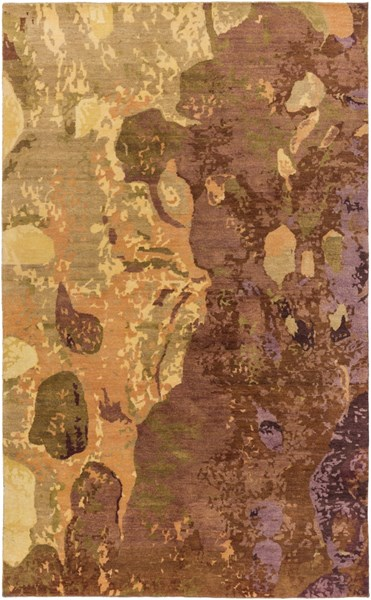 Brought To Light Mocha Beige Olive Wool Area Rug - 72 x 108 BOL4005-69