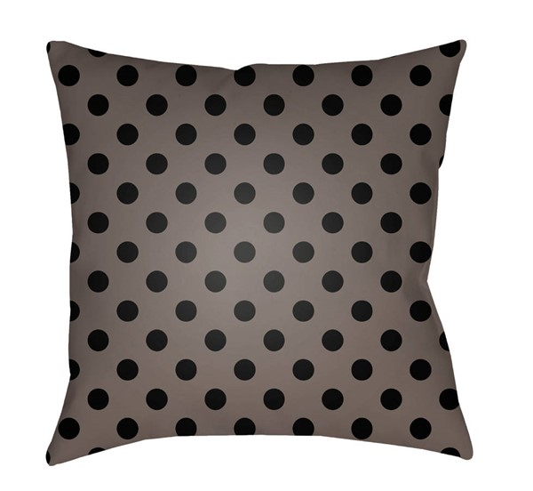 Surya Boo Brown Black Geometric Pillow Cover - 20x20 BOO169-2020