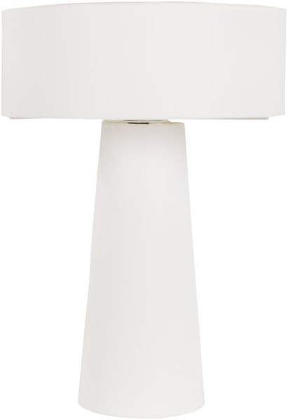 Surya Bradley White Fabric Table Lamp - 14.56x20.75 BRA866-TBL