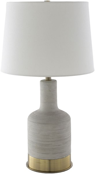 Surya Brae Ivory Concrete Metal Table Lamp - 15x27 BRE-001