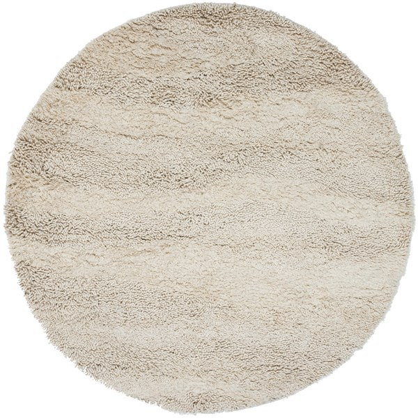 Surya Berkley Cream Wool Shag Round Area Rug - 96x96 BRK3300-8RD
