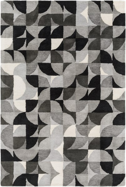 Brilliance Light Gray Charcoal Viscose Area Rug - 60 x 96 BRL2012-58