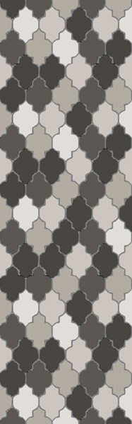 Brilliance Light Gray Moss Black Fabric Area Rug (L 96 X W 30) BRL2015-268