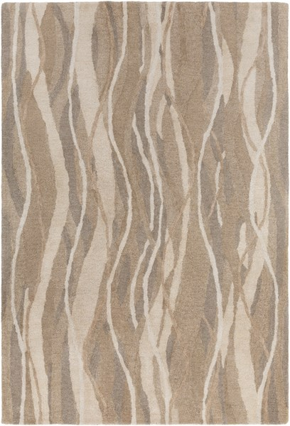 Brilliance Taupe Beige Ivory Viscose Area Rug - 60 x 96 BRL2021-58