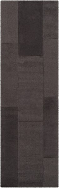 Bristol Modern Black Wool Hand Loomed Runner 399-VAR1