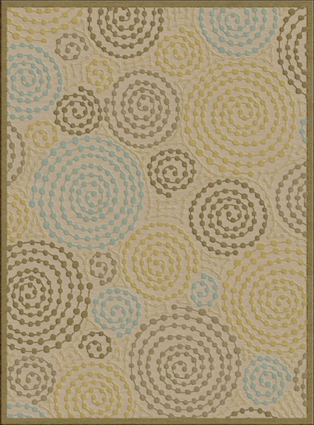 Basilica Contemporary Taupe Moss Olive Viscose Chenille Area Rugs 1190-VAR1