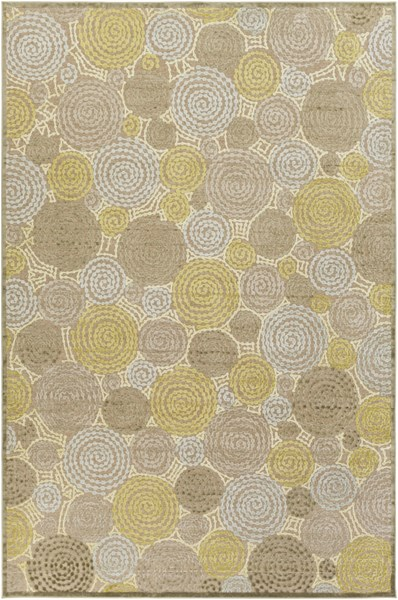 Basilica Taupe Moss Olive Viscose Chenille Area Rug - 104 x 144 BSL7128-8812
