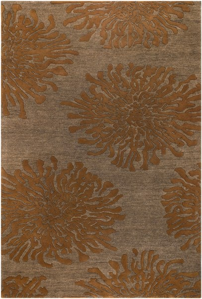 Bombay Tan Burnt Orange New Zealand Wool Area Rug - 60 x 96 BST495-58