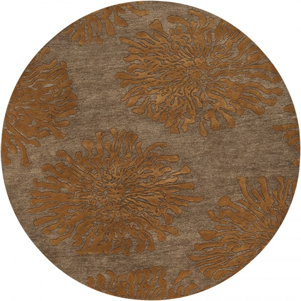 Bombay Tan Burnt Orange New Zealand Wool Round Area Rug - 96 x 96 BST495-8RD