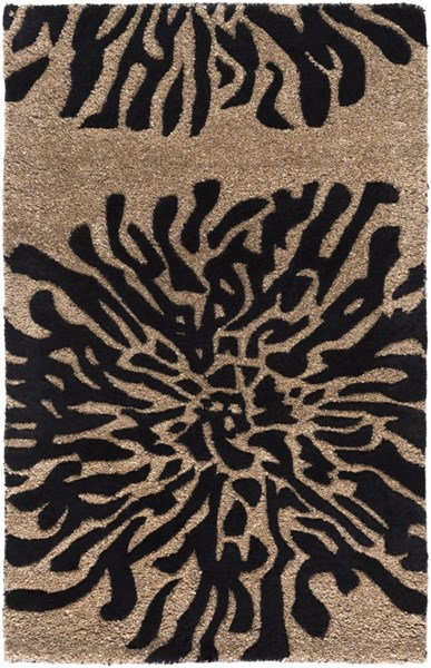 Bombay Taupe Charcoal New Zealand Wool Area Rug - 24 x 36 BST496-23