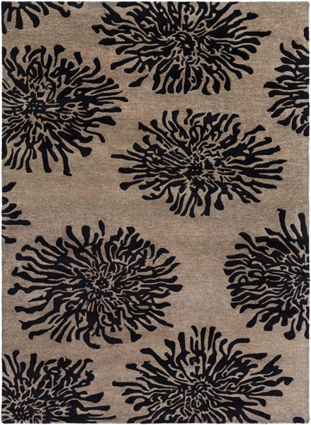 Bombay Taupe Charcoal New Zealand Wool Area Rug - 96 x 132 BST496-811
