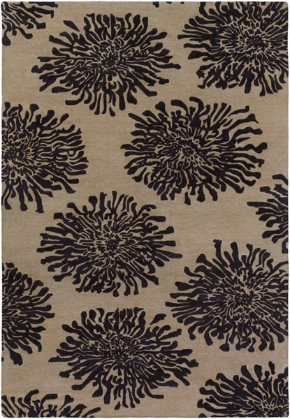 Bombay Taupe Charcoal New Zealand Wool Area Rug - 108 x 156 BST496-913