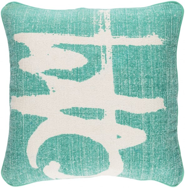 Bristle Pillow with Down Fill in Teal - 20 x 20 x 5 BT003-2020D