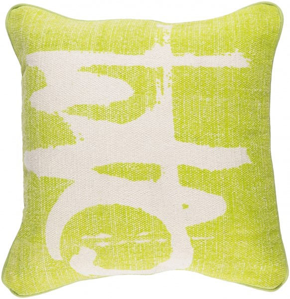 Bristle Pillow with Down Fill in Lime - 20 x 20 x 5 BT004-2020D