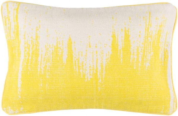 Bristle Global-Inspired Light Gray Lemon Cotton Lumbar Pillows 13524-VAR1