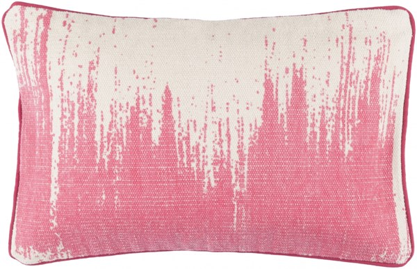 Bristle Pillow With Down Fill In Light Gray Hot Pink - 22 x 14 x 4 BT014-2214D