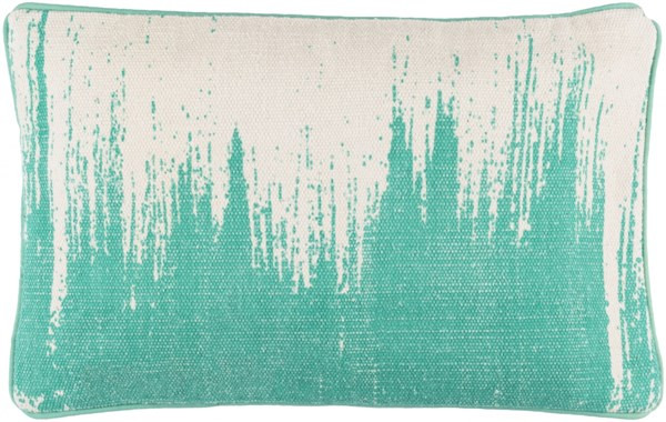 Bristle Pillow with Down Fill in Teal and Light Gray - 22 x 14 x 4 BT015-2214D