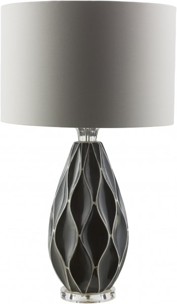 Bethany Contemporary Grey Ceramic Cotton Table Lamp BTH420-TBL