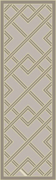 Brighton Olive Light Gray Viscose Runner - 30 x 96 BTN4000-268