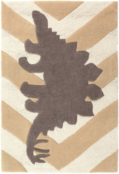 Budding Beige Gray Ivory Polyester Kids Rugs 1803-VAR1