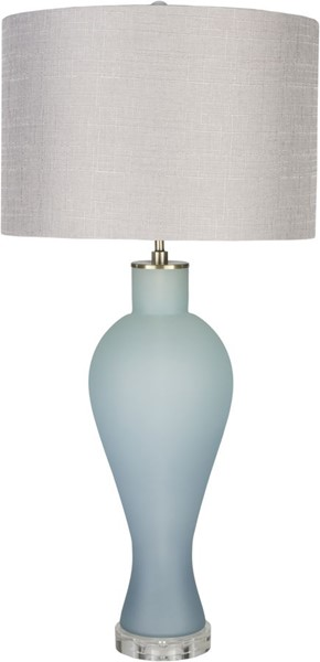 Surya Buckley Light Gray Glass Crystal Table Lamp - 15x32 BUL-001