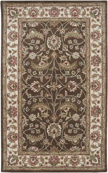 Caesar Chocolate Cherry Moss Wool Area Rug - 60 x 96 CAE1003-58