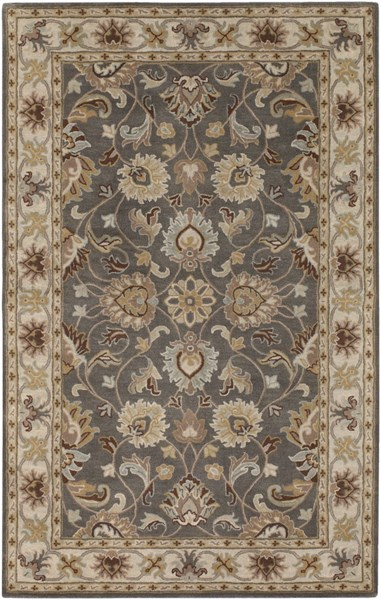 Caesar Charcoal Light Gray Sunflower Wool Area Rug - 60 x 96 CAE1005-58