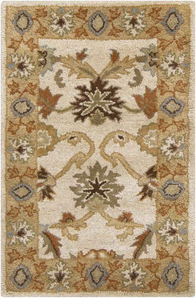 Caesar Traditional Ivory Beige Taupe Fabric Area Rugs 761-VAR1