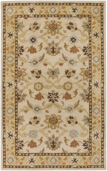 Surya Caesar Khaki Tan Dark Brown Wool Area Rug - 144x108 CAE1010-912