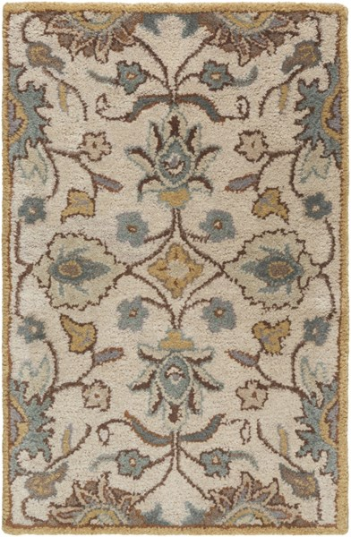 Caesar Traditional Taupe Mocha Gold Fabric Area Rugs 181-VAR1