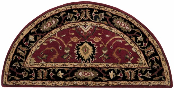 Caesar Mocha Cherry Ivory Wool Hearth Area Rug - 24 x 48 CAE1031-24HM
