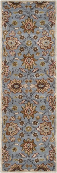 Caesar Traditional Moss Taupe Olive Fabric Runner (L 96 X W 30) CAE1052-268