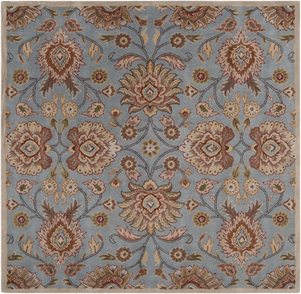 Caesar Moss Taupe Olive Fabric Hand Tufted Area Rug (L 96 X W 96) CAE1052-8SQ