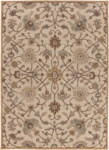 Caesar Beige Chocolate Gold Wool Area Rug - 96 X 132 CAE1081-811