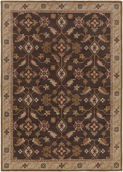Caesar Chocolate Mocha Gold Wool Area Rug - 96 x 132 CAE1083-811