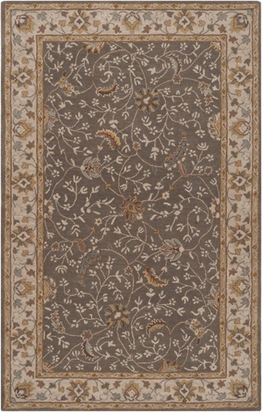 Caesar Moss Chocolate Gold Wool Area Rug - 60 x 96 CAE1093-58