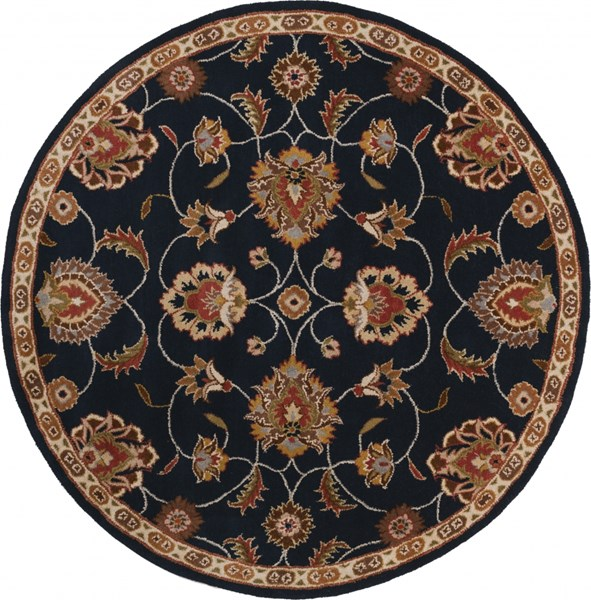 Caesar Traditional Rust Olive Ivory Fabric Area Rug (L 72 X W 72) CAE1102-6RD