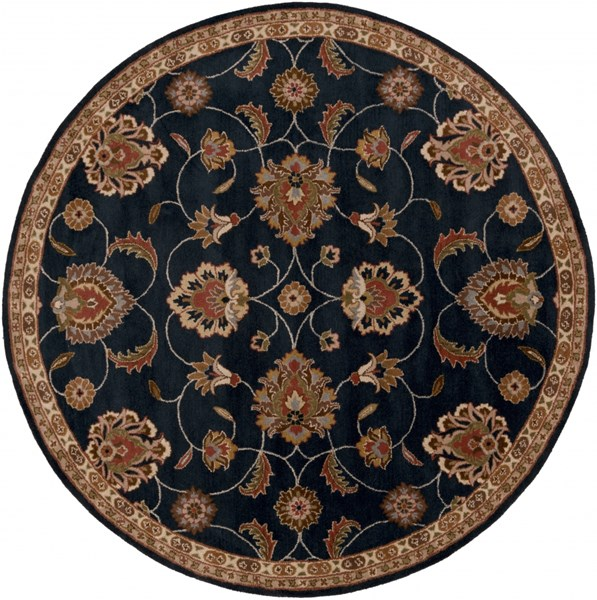 Caesar Traditional Rust Olive Ivory Fabric Area Rug (L 96 X W 96) CAE1102-8RD