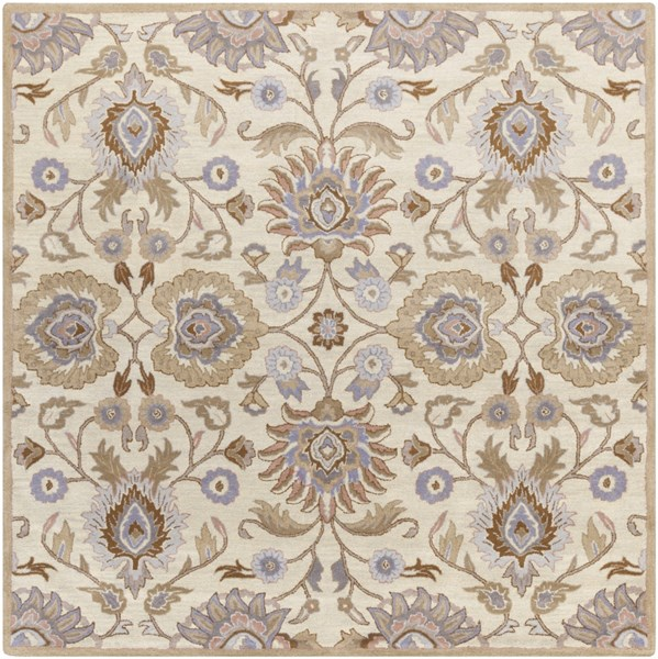 Caesar Ivory Taupe Mocha Wool Square Area Rug - 96 x 96 CAE1109-8SQ