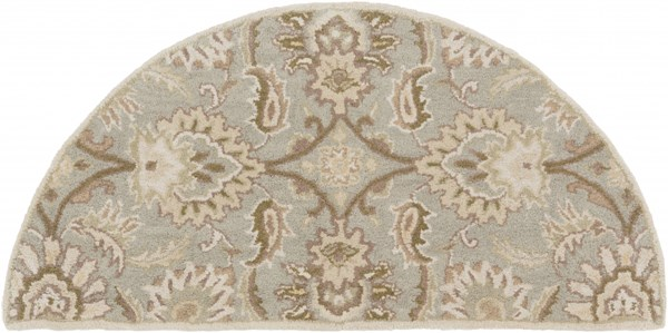 Caesar Gray Olive Taupe Wool Hearth Area Rug - 24 x 48 CAE1111-24HM