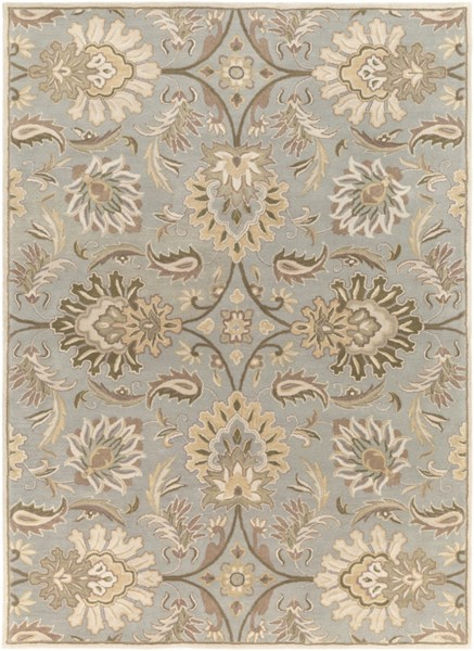 Caesar Gray Olive Taupe Wool Area Rug - 96 x 132 CAE1111-811