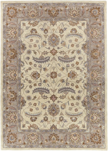 Caesar Ivory Mauve Light Gray Wool Area Rug - 96 x 132 CAE1115-811