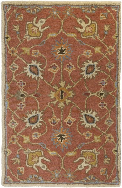 Caesar Peach Tan Rust Wool Area Rug - 24 x 36 CAE1119-23
