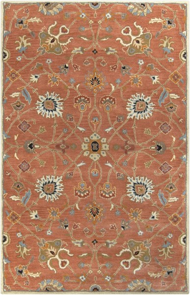 Surya Caesar Clay Camel Burnt Orange Wool Area Rug - 96x60 CAE1119-58
