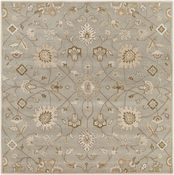 Caesar Beige Light Gray Forest Wool Square Area Rug - 96 x 96 CAE1121-8SQ