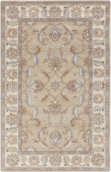 Caesar Charcoal Ivory Gray Wool Area Rug - 60 x 96 CAE1129-58