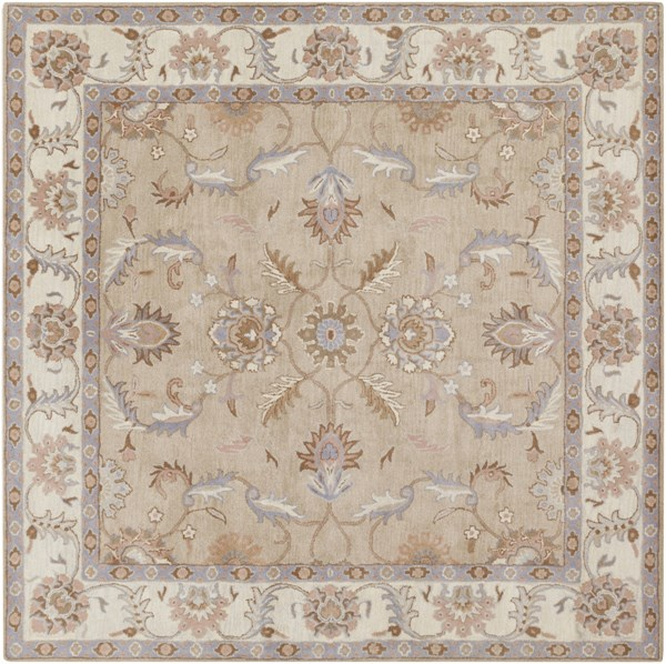 Caesar Charcoal Ivory Gray Wool Square Area Rug - 96 x 96 CAE1129-8SQ